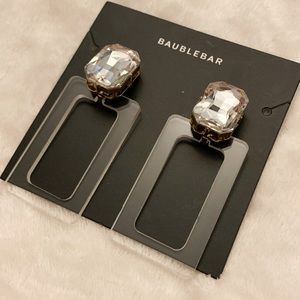 Baublebar Clear Lucite Rectangle Earring
